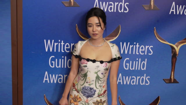 maya erskine at the 2020 writers guild awards at the beverly hilton hotel on february 01, 2020 in beverly hills, california. - the beverly hilton hotel stock videos & royalty-free footage