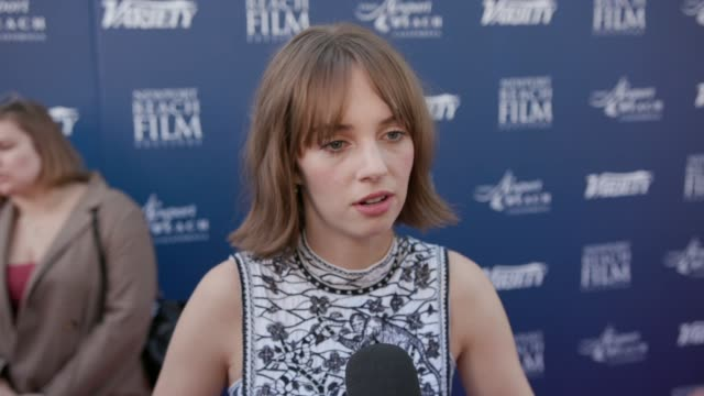 maya hawke at newport beach film festival fall honors and variety's 10 actors to watch at the resort at pelican hill on november 03, 2019 in newport... - tourist resort stock videos & royalty-free footage