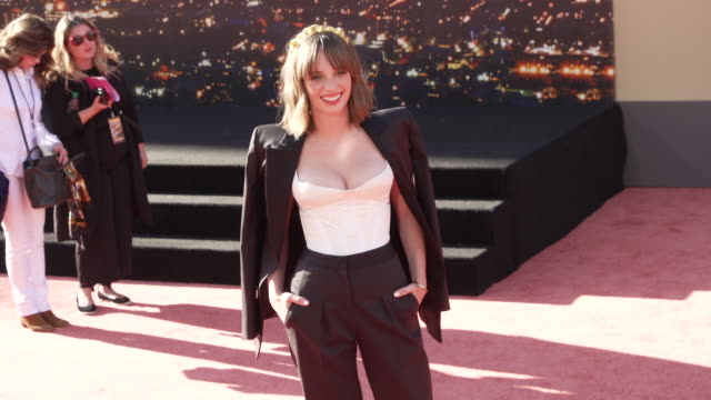 """maya hawke at the """"once upon a time in hollywood"""" premiere at tcl chinese theatre on july 22, 2019 in hollywood, california. - tcl chinese theatre stock videos & royalty-free footage"""