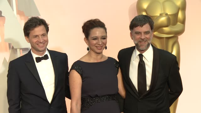 Maya Rudolph and Paul Thomas Anderson at the 87th Annual Academy Awards Arrivals at Dolby Theatre on February 22 2015 in Hollywood California