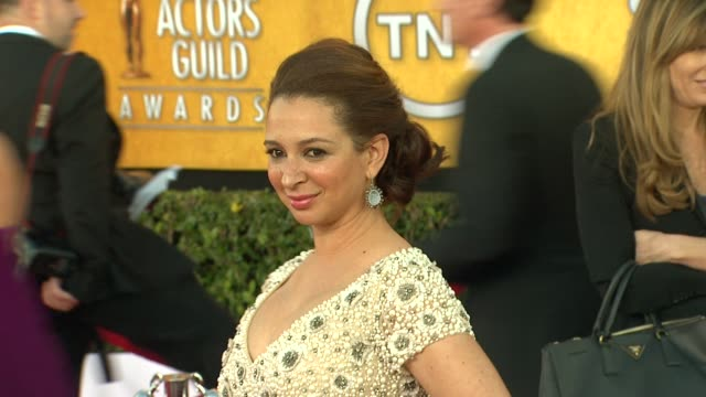 maya rudolph at 18th annual screen actors guild awards arrivals on 1/29/12 in los angeles ca - maya rudolph video stock e b–roll