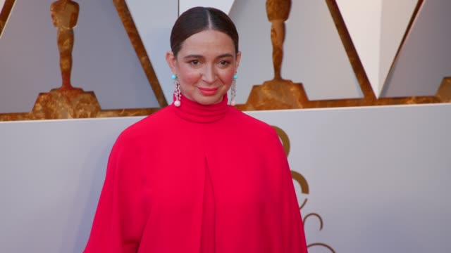 maya rudolph at 90th academy awards arrivals 4k footage at dolby theatre on march 04 2018 in hollywood california - maya rudolph video stock e b–roll