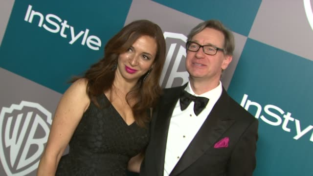 maya rudolph at the 13th annual warner bros. and instyle golden globe after-party at the beverly hilton hotel on 1/15/12 in los angeles, ca. - maya rudolph video stock e b–roll