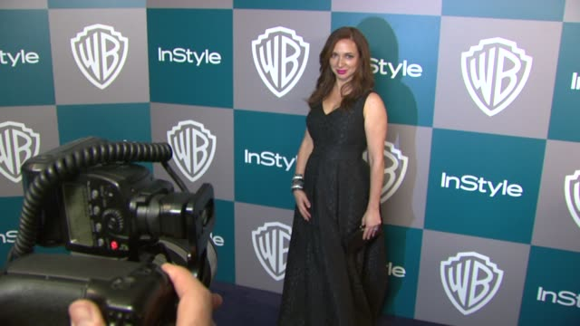 maya rudolph at the 13th annual warner bros and instyle golden globe afterparty at the beverly hilton hotel on 1/15/12 in los angeles ca - maya rudolph video stock e b–roll