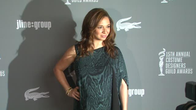 maya rudolph at the 15th annual costume designers guild awards on 2/19/13 in los angeles, ca . - maya rudolph video stock e b–roll