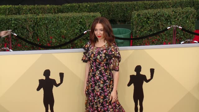 maya rudolph at the 24th annual screen actors guild awards at the shrine auditorium on january 21, 2018 in los angeles, california. - maya rudolph video stock e b–roll