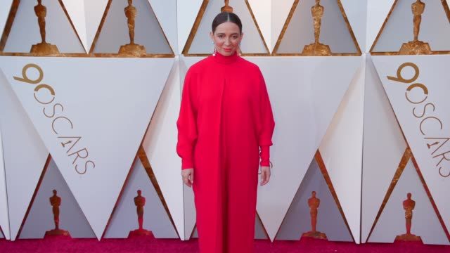maya rudolph at the 90th academy awards - arrivals at dolby theatre on march 04, 2018 in hollywood, california. - maya rudolph video stock e b–roll