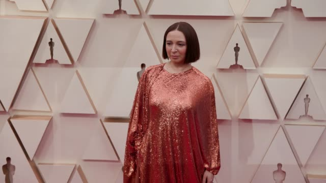 maya rudolph at the 92nd annual academy awards at dolby theatre on february 09 2020 in hollywood california - maya rudolph video stock e b–roll