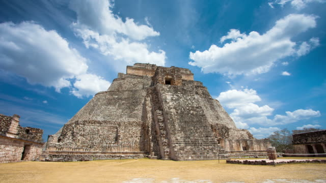 time lapse: maya ruins uxmal - mayan stock videos & royalty-free footage