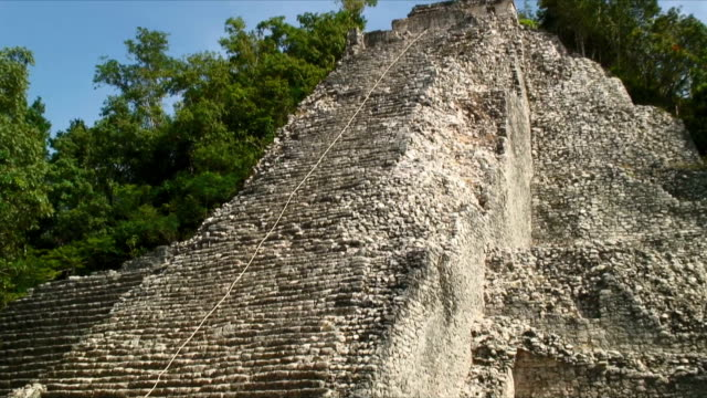 ws zi mayan pyramid / coba ruins, mexico - latin american civilizations stock videos and b-roll footage
