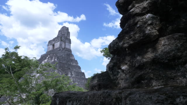 mayan pyramids of tikal - mayan stock videos & royalty-free footage