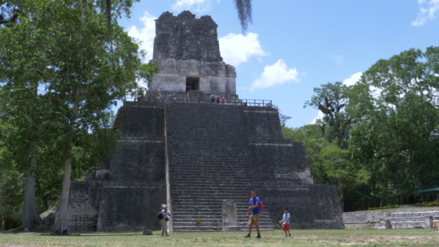 mayan pyramids of tikal - guatemala stock videos & royalty-free footage