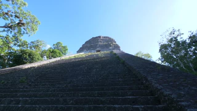 mayan pyramids of tikal - maya kultur stock-videos und b-roll-filmmaterial