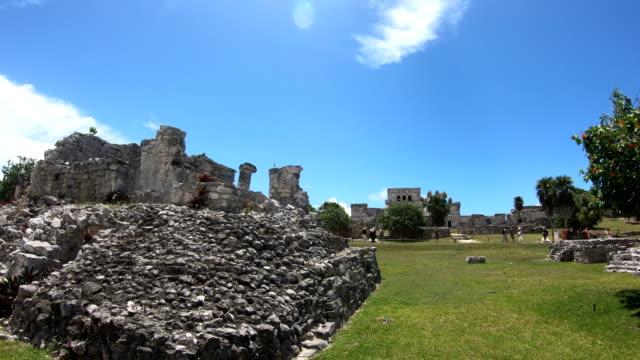 vidéos et rushes de les ruines maya de la péninsule du yucatan au mexique, coba - aztèque