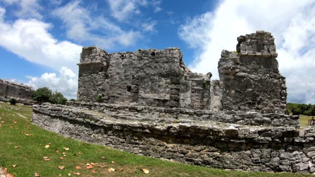 mayan ruins of coba yucatan peninsula mexico - aztec stock videos & royalty-free footage