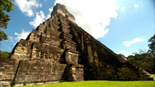 mayan temple in el peten , guatemala - guatemala stock videos & royalty-free footage