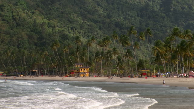 mayaro bay stretches for nine miles on the east coast of the island of the republic of trinidad and tobago. - caribbean sea stock videos & royalty-free footage