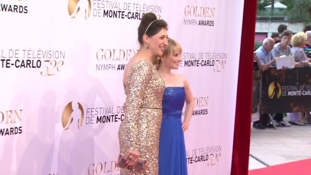 mayim bialik and melissa rauch at the 52nd annual monte carlo television festival golden nymph awards mayim bialik and melissa rauch at the 52nd... - mayim bialik stock videos & royalty-free footage