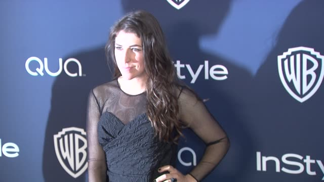 mayim bialik at 2014 instyle and warner bros 71st annual golden globe awards postparty at the beverly hilton hotel on in beverly hills california - mayim bialik stock videos & royalty-free footage