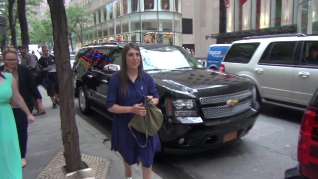 mayim bialik at nbc studios in new york ny on 8/8/13 - mayim bialik stock videos & royalty-free footage