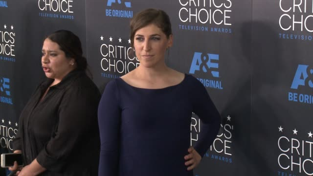 Mayim Bialik at the 2015 Critics' Choice Television Awards at The Beverly Hilton Hotel on May 31 2015 in Beverly Hills California