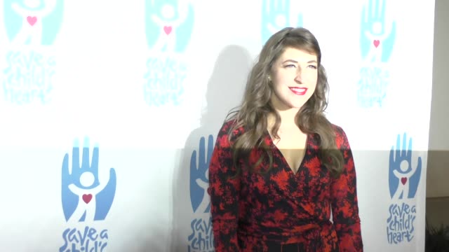 mayim bialik at the 2nd annual save a child's heart gala event at sony studios in culver city in celebrity sightings in los angeles - mayim bialik stock videos & royalty-free footage