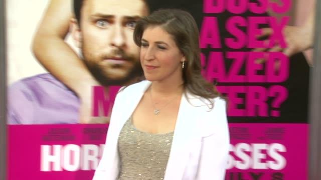 mayim bialik at the 'horrible bosses' los angeles premiere at hollywood ca - mayim bialik stock videos & royalty-free footage