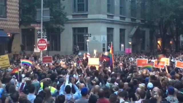 mayo deblasio addresses vigil - stone wall stock videos & royalty-free footage