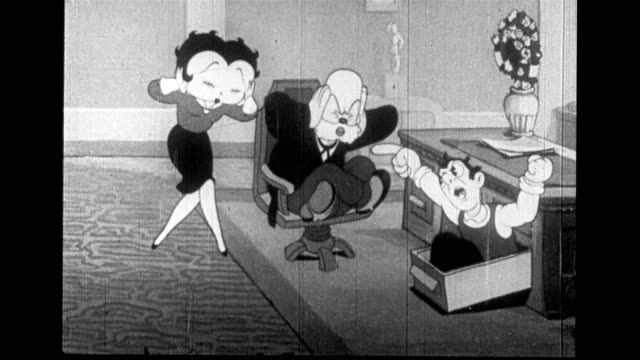 vídeos de stock e filmes b-roll de mayor and betty boop feel political stress - politician