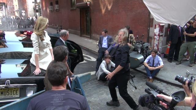 Mayor Bloomberg Arianna Huffington and Annie Leibovitz