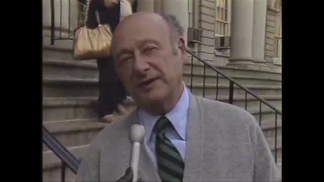 mayor ed koch interviews about the nyc marathon and its impact on the city - salmini stock videos and b-roll footage