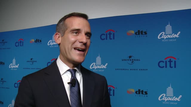 interview mayor eric garcetti at arclight cinemas on august 05 2015 in hollywood california - arclight cinemas hollywood stock videos and b-roll footage