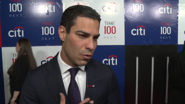 interview mayor francis suarez talks about what it means to be on the list and what inspires him at the time 100 next 2019 at pier 17 on november 14... - mayor stock videos & royalty-free footage