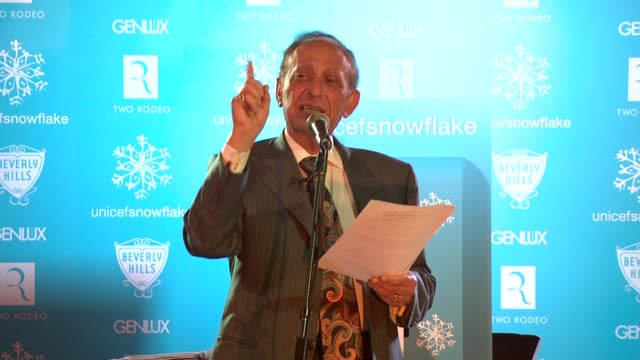 mayor jimmy delshad at the unicef supporter monique coleman to light the unicef snowflake at snow90210 at beverly hills ca. - monique coleman stock videos & royalty-free footage