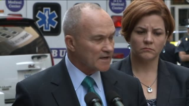 mayor michael bloomberg and police commissioner ray kelly give statement to the press on august 24 2012 in new york new york - mayor stock videos & royalty-free footage