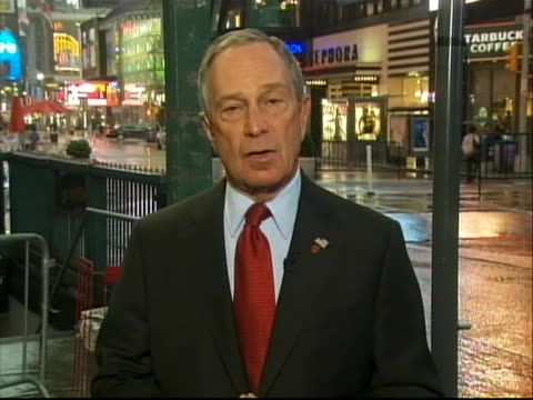 mayor michael bloomberg comments saying that new york is the symbol of america and that is why it is the target for terrorism the mayor states we... - crime or recreational drug or prison or legal trial stock videos & royalty-free footage