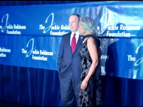 mayor mike bloomberg and rachel robinson at the the 2007 annual jackie robinson awards dinner at the waldorf astoria hotel in new york, new york on... - waldorf astoria new york stock videos & royalty-free footage