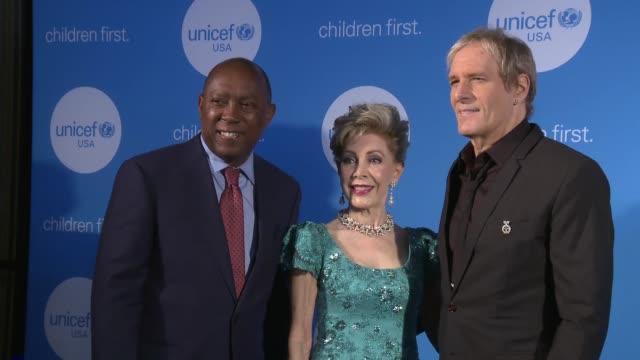Mayor of Houston Sylvester Turner Margaret Alkek Williams and Michael Bolton at 2017 UNICEF Audrey Hepburn Society Ball on May 24 2017 in Houston...