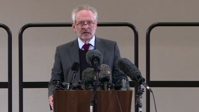 """mayor of leicester peter soulsby saying he was surprised there was a coronavirus outbreak in leicester as there was no data - """"bbc news"""" stock videos & royalty-free footage"""