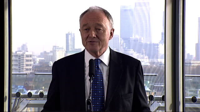 vídeos de stock, filmes e b-roll de mayor of london criticises channel 4 documentary newman seated with other reporters as asks question sot ken livingstone press conference sot as i... - bronquite