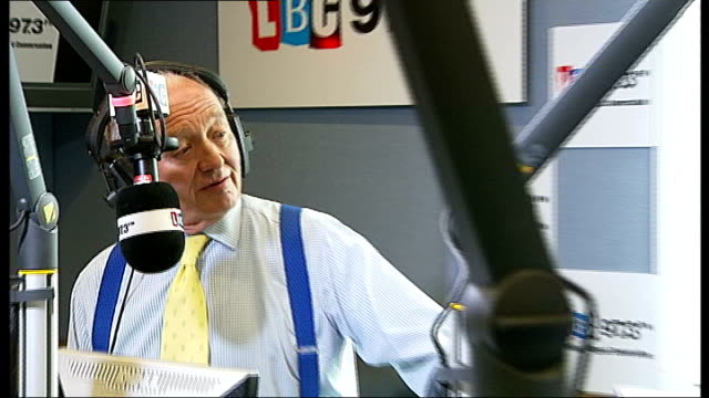 tax row between Boris Johnson and Ken Livingstone ENGLAND London LBC Radio INT Shots of Boris Johnson Ken Livingstone and Brian Paddick in LBC radio...