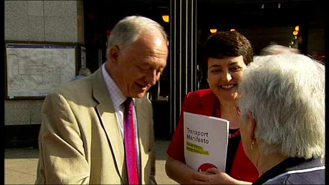 stockvideo's en b-roll-footage met paddick attacks livingstone london ext labour mayoral candidate ken livingstone campaigning - ken livingstone