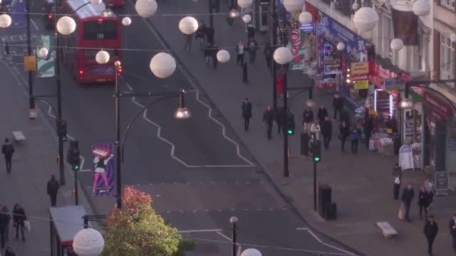 Mayor of London Sadiq Khan discusses the pedestrianisation of Oxford Street outside John Lewis