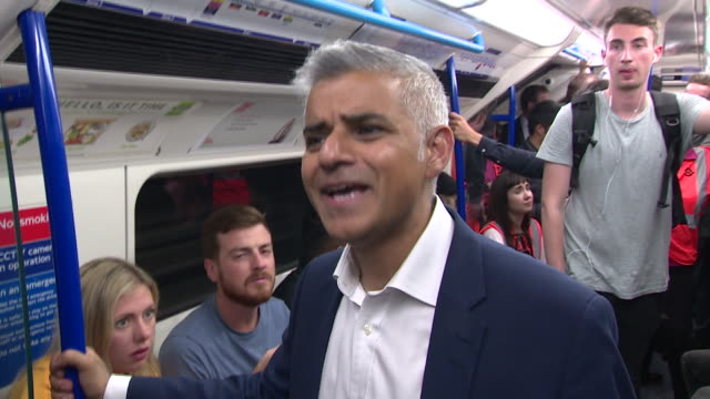 Mayor of London Sadiq Khan saying the key guarantee he wanted for the Night Tube was that 'the service at night time is at least the same as you get...