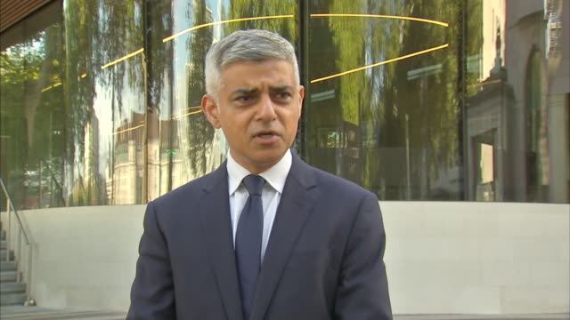 """mayor of london sadiq khan saying the shooting death of sergeant matiu ratana in a custody centre in croydon is a source of """"huge concern for... - worried stock videos & royalty-free footage"""