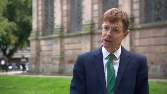 """mayor of the west midlands, andy street, saying """"we have to turn this number around"""" as birmingham entered a localised lockdown - turning stock videos & royalty-free footage"""