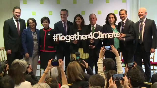 Mayors from around the world gathered in Paris on Monday for the C40 conference on climate change