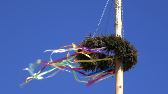 maypole austria - may day international workers day stock videos & royalty-free footage
