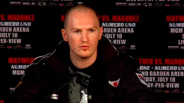 1 Matthew Hatton press conference SOT discusses forthcoming fight Promoter introduces Juan Manuel Marquez