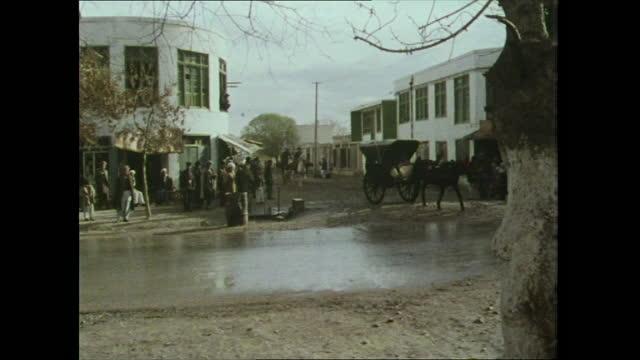 mazar-i-sharif street, afghanistan; 1970s - horsedrawn stock videos & royalty-free footage